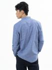 Áo Sơ Mi Kẻ Sọc In Ngực ASM016 Màu Xanh