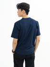 Áo Thun Trơn Căn Bản Form Regular AT017 Màu Xanh Đen