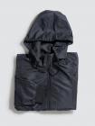 Áo Khoác Dù Trơn Nón Rời Màu Đen AK019
