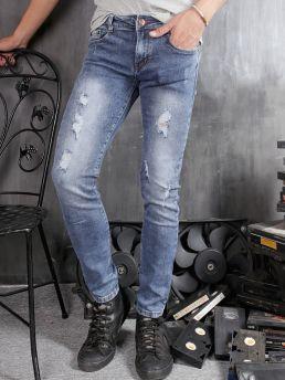 quan jean skinny rach xanh duong qj1361