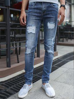 quan jean skinny rach xanh duong qj1377