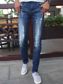 quan jean skinny rach xanh duong qj1378