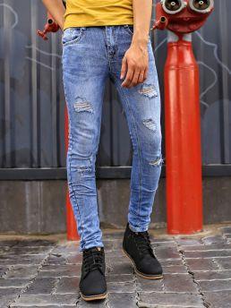 quan jean skinny rach xanh qj1386
