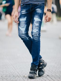 quan jean xanh den qj1415