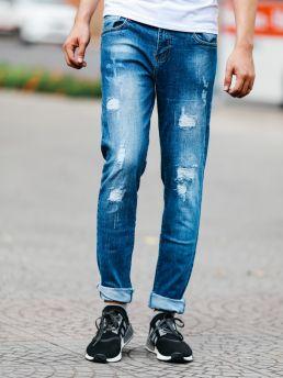 quan jean xanh den qj1464
