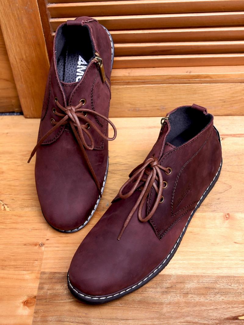 Giày Boot Cổ Lửng Nâu G100