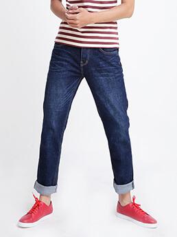 quan jeans ong dung xanh den qj1519