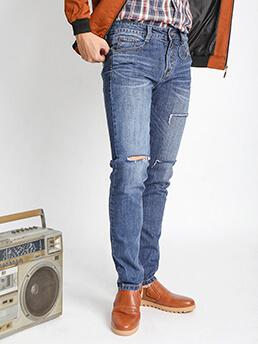 quan jeans skinny rach xanh duong qj1536