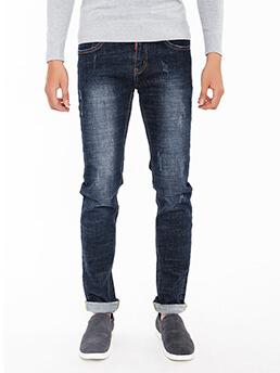 quan jeans skinny xanh den qj1538
