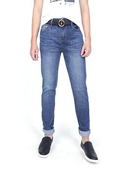 quan jeans skinny xanh den qj1590