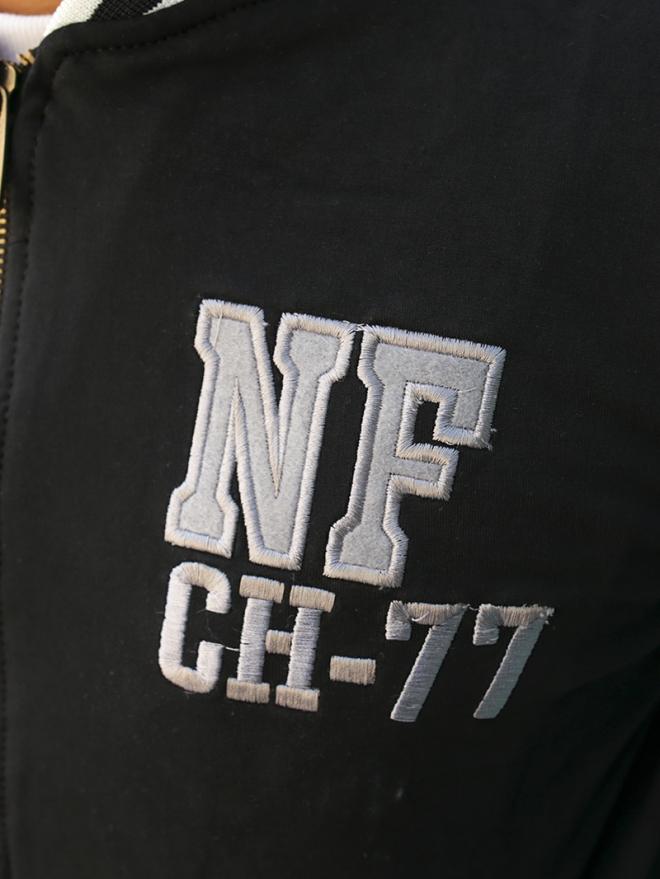 Áo Khoác Bomber Nỉ Đen AK179