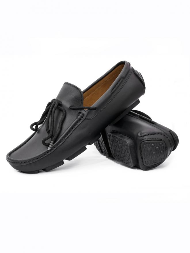 Giày Mọi Da Đen G25