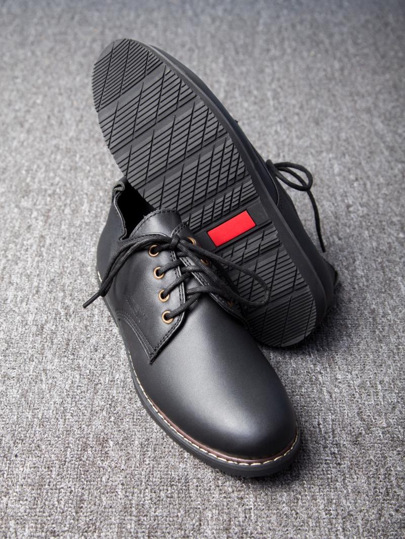 Giày Cột Dây Thời Trang Đen G109