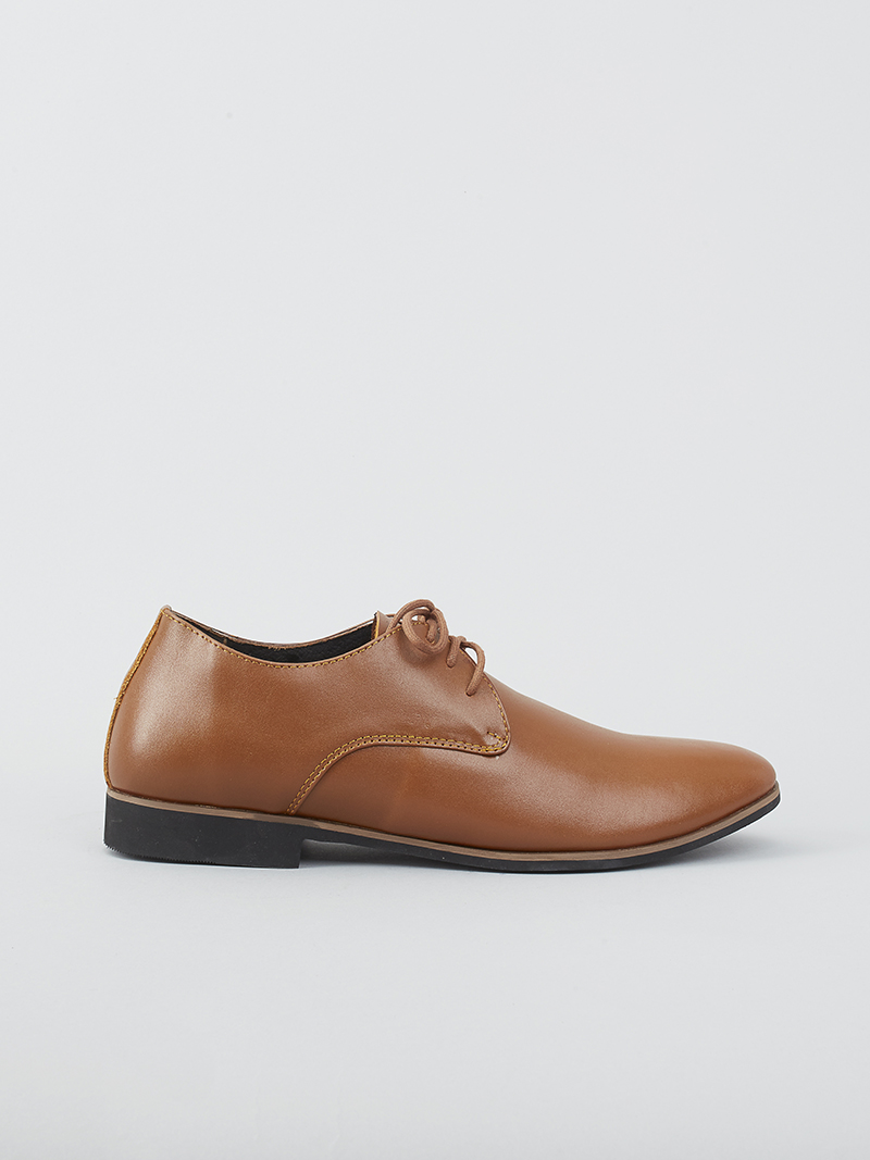Giày Tây Tăng Chiều Cao Màu Bò G124