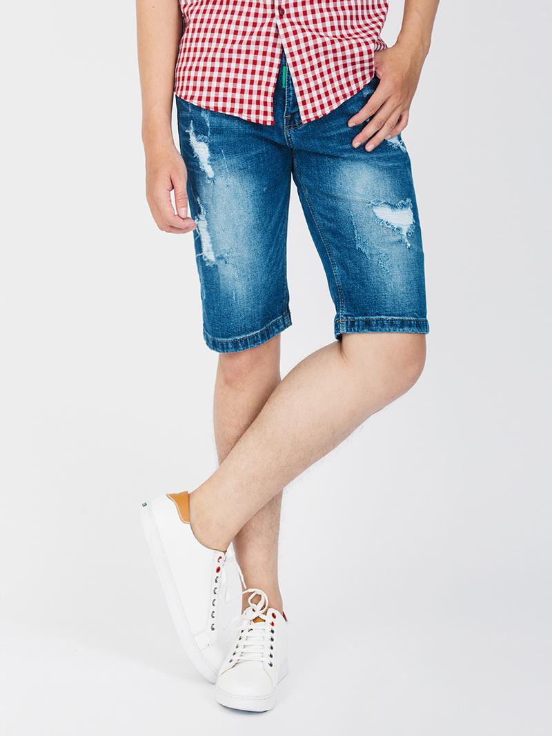 Quần Short Jean Xanh Dương Đậm QS103