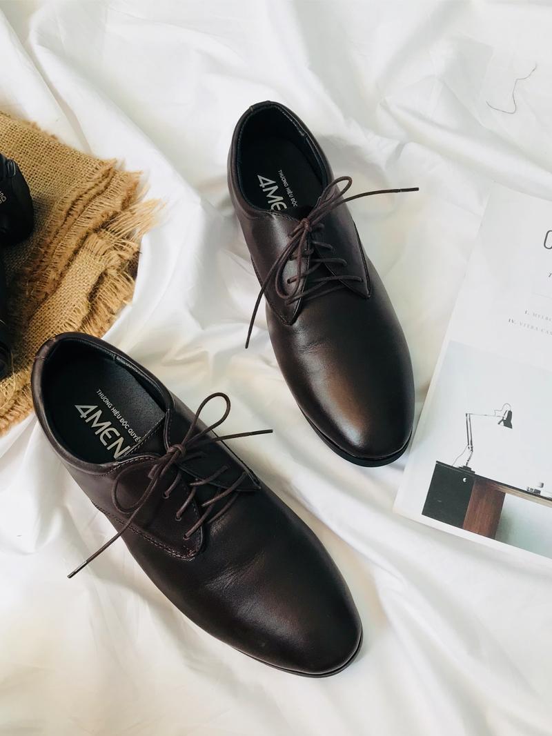 Giày Tăng Chiều Cao Nâu G183