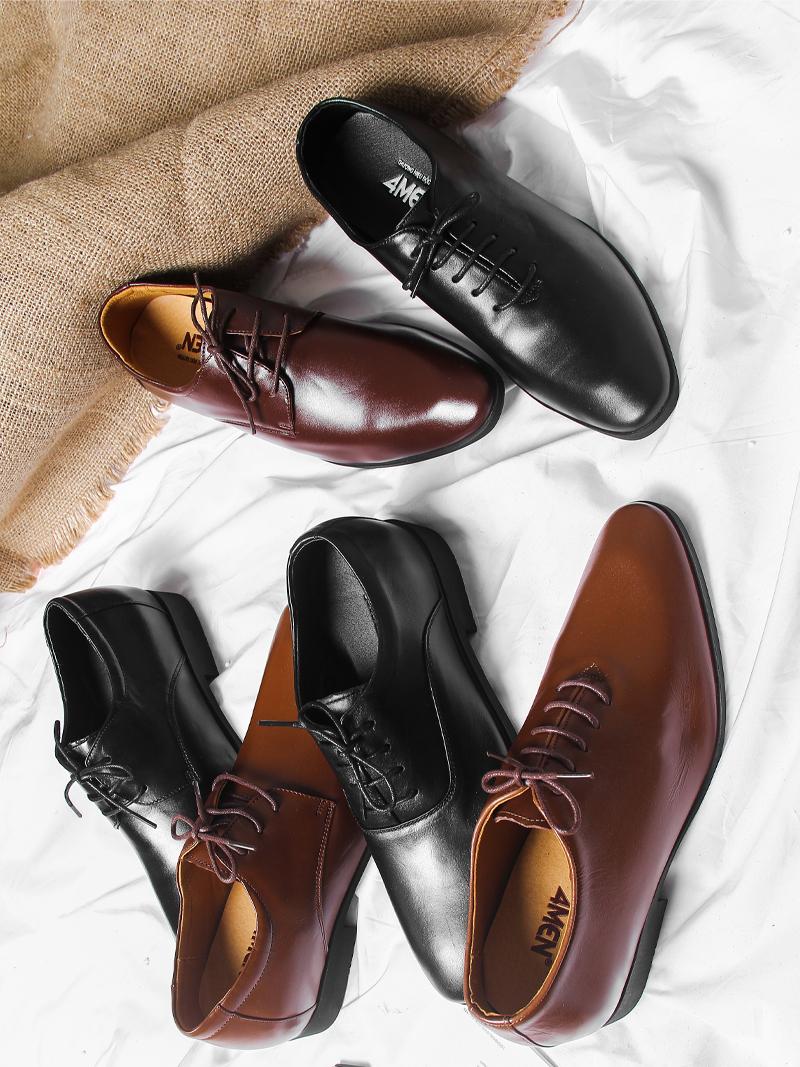 Giày Tăng Chiều Cao Nâu G203