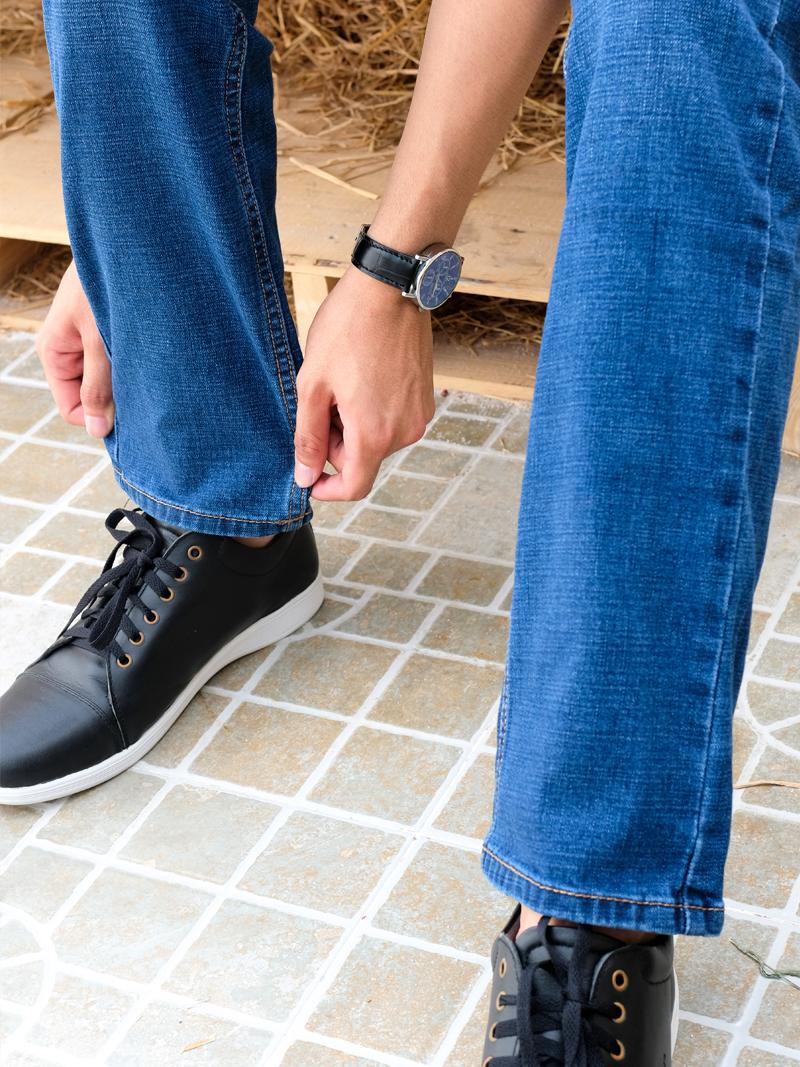 Quần Jeans Ống Đứng Xanh QJ1595