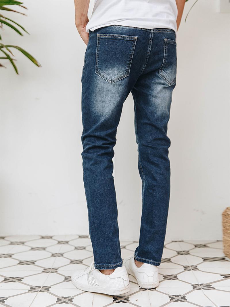Quần Jeans Ống Đứng Xanh Đen QJ1627