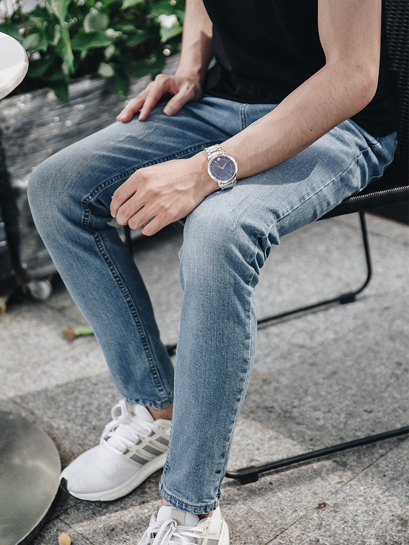 Quần Jeans Ống Đứng Xanh QJ1626