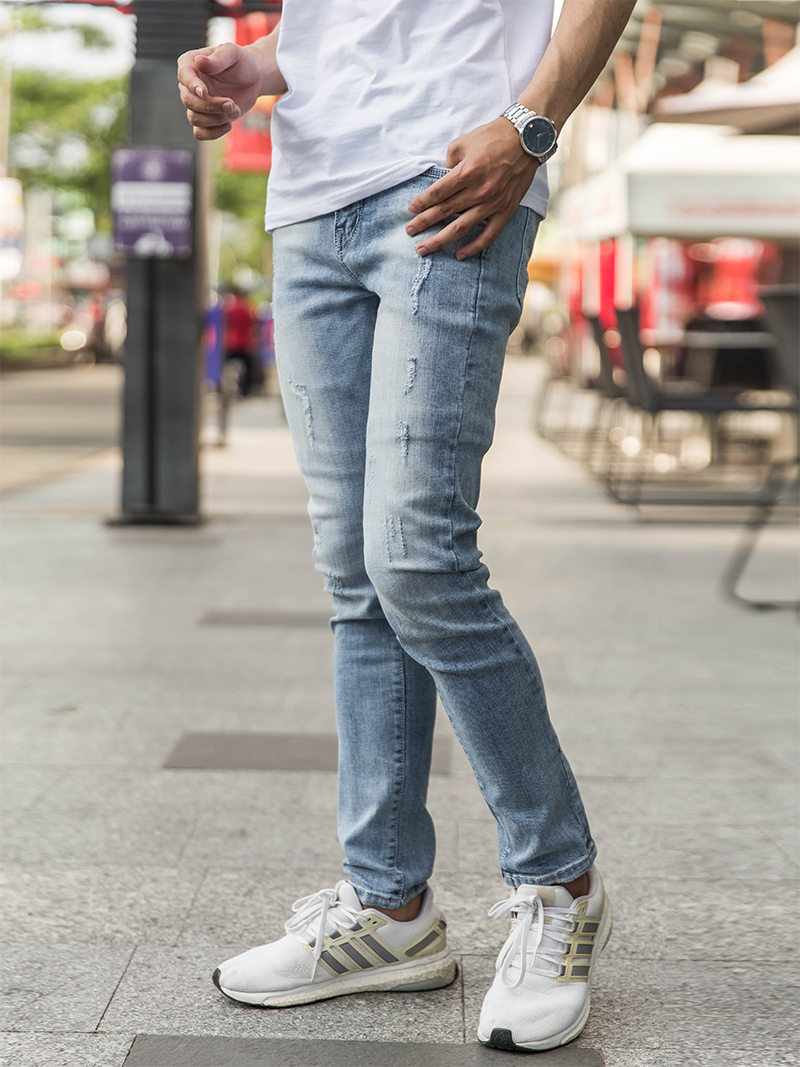 Quần Jeans Rách Bạc QJ1630