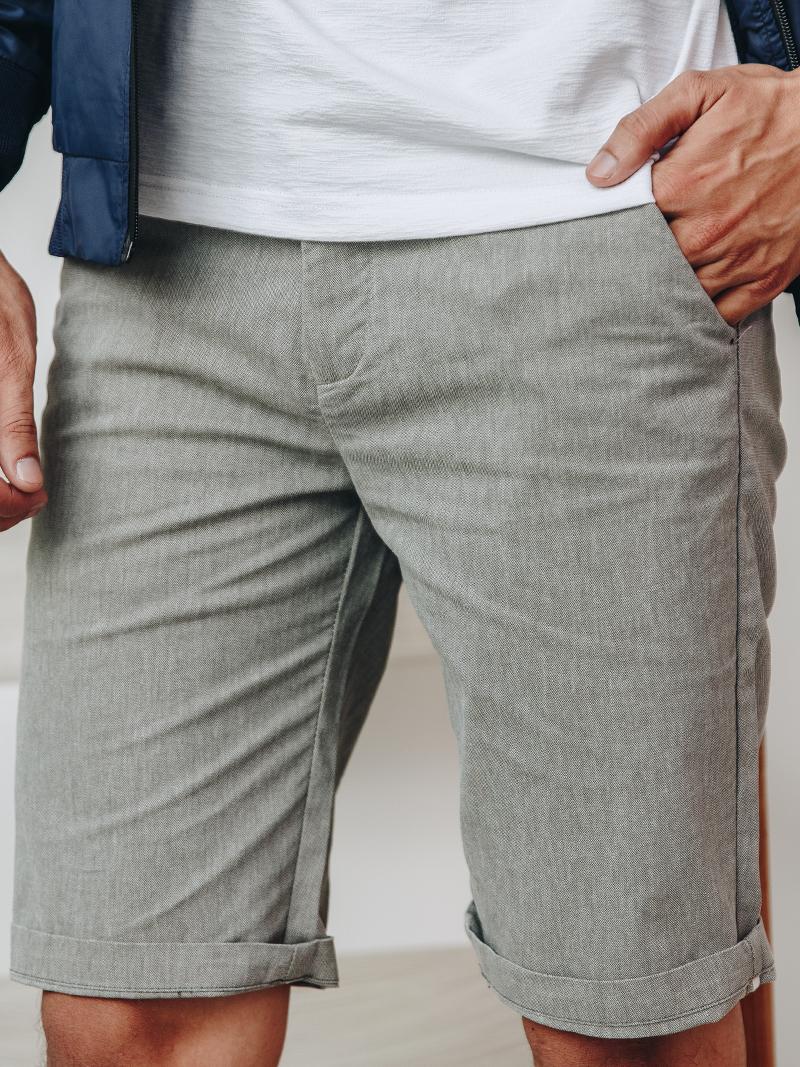 Quần Short Linen Màu Rêu QS160