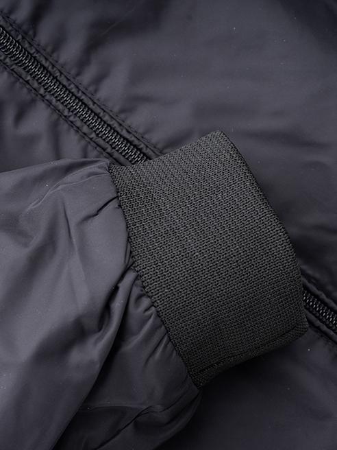 Áo Khoác Dù Trơn Màu Đen AK020